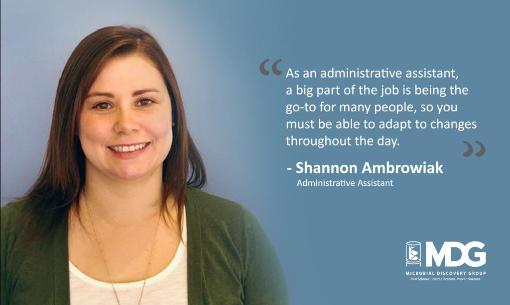 Receptionist Shannon Ambrowiak